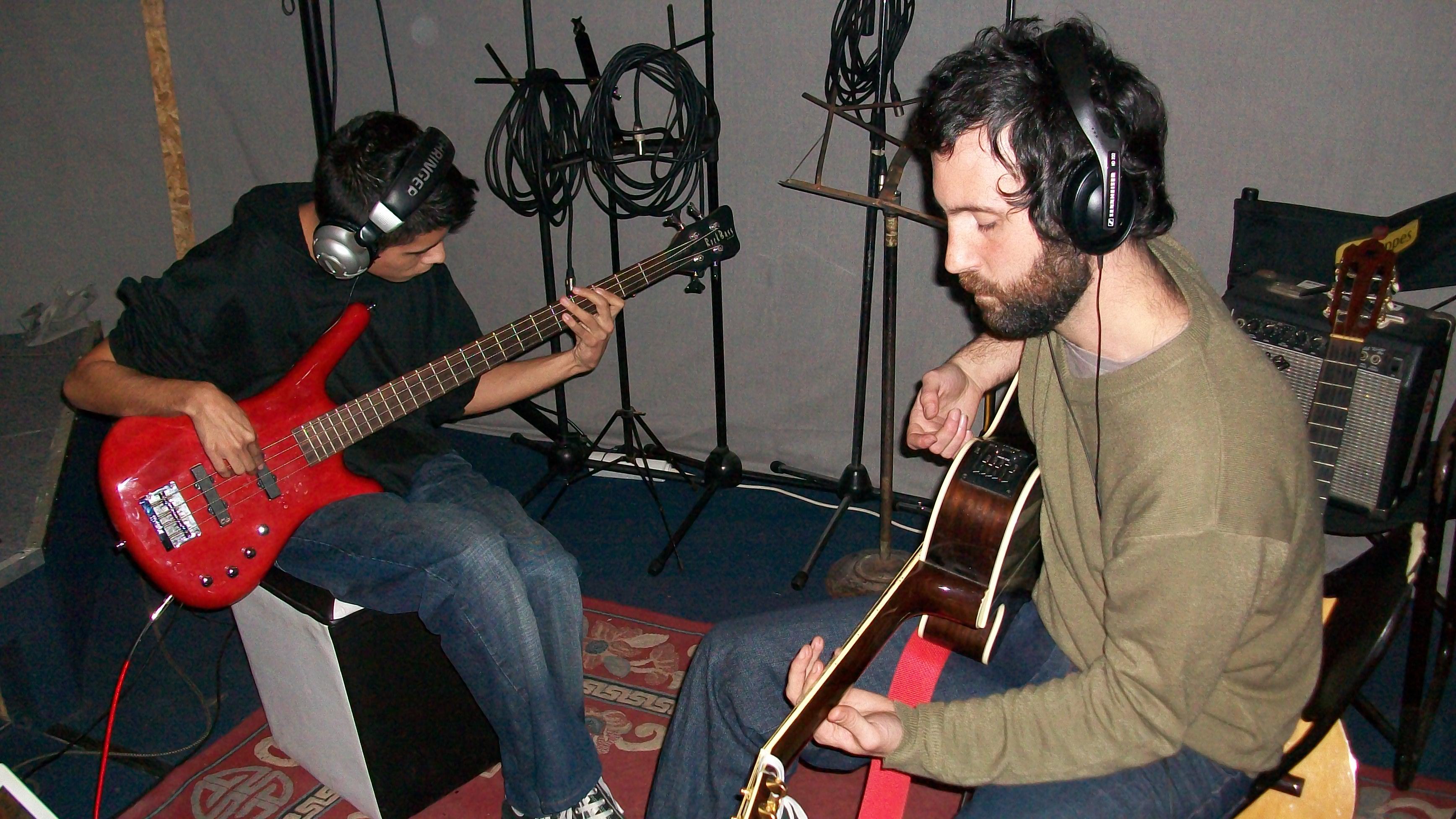 Francisco Ensayando para su primer disco